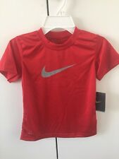 Nike Boys Dri-Fit Youth Boys T-Shirt Short Sleeves Red 829390