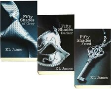 3 Lot 50 Shades of Grey Fifty Shades Darker & Freed E L James Trilogy + FREE B's