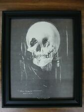 Vintage ALL IS VANITY Allen C Gilbert skull optical illusion FRAMED 8x10 print