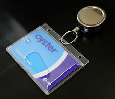 Heavy Duty Retractable Belt Clip Reel+Oyster Pass/Security ID Card/Badge Holder