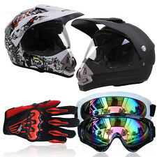 M-XL Yes Motorcycle Riding DOT Approved Proetctor Off-road Helmet+Goggles+Gloves