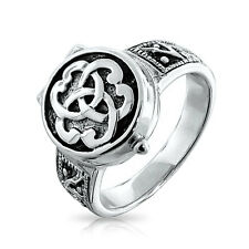 Bling Jewelry Sterling Silver Triquetra Celtic Knot Poison Locket Ring