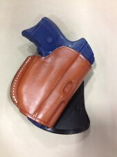 Leather PADDLE style Gun Holster  - RUGER LC9 / LC380 WITH LASER (#4230)