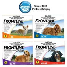FRONTLINE PLUS for Dogs - Fleas, Ticks & Lice Treatment 6 Pack