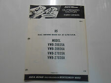 1970 Wards Sea King Outboard Motor 35 HP VWB Models Parts Catalog Manual OEM 70