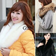 Women faux fur collar fur scarf shawl collar Scarves Warm Shawl Wrap Stole TXGT