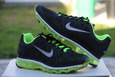 Nike Air Max 2011 Black/ Neon Green Athletic Shoes US Men's Size 11 [429889-007]