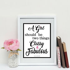 Coco Chanel 'Classy Fabulous' Quote Print/Poster Two Sizes Olivia Valentine NEW