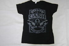 JOHNNY CASH MEAN AS HELL LADIES SKINNY T SHIRT NEW OFFICIAL MAN IN BLACK MATADOR