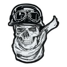 Reflective Rider Skull With Scarf, Helmet & Goggles Patch, Reflective Patches