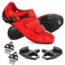 Shimano RP3 Road Bike Bicycle Cycling Shoes Red R540 Pedals & Cleats