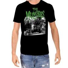 Rock Rebel The Munsters Family Coach Licensed Classic Horror Men's T-Shirt