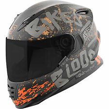 Speed and Strength SS1310 Bikes Are In My Blood Black Grey Full Face Helmet