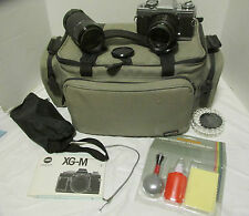 Vintage Minolta XG-M SLR Camera with Sigma Lenses & Case LQQK!