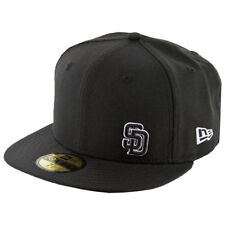 New Era 59Fifty San Diego Padres Fitted Hat (Flawless Black/Black/White) MLB Cap