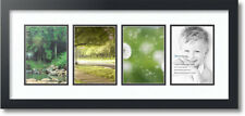 """ArtToFrames Collage Mat Picture Photo Frame - 4 5x7"""" Openings in Satin Black 15"""