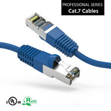 Cat'7 SSTP Shielded Patch Ethernet Network lan Cable 10GB 600MHz Blue 1ft - 20ft