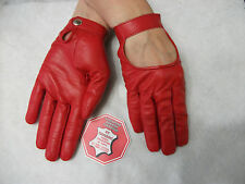 WOMENS RED  LEATHER DRIVING GLOVES SIZE 7, 7.5, 8