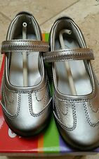 Stride Rite Blaire Pewter Silver/Metallic Mary Jane~Athletic~Dress Claire