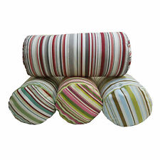 Goa Stripe Bolster Cushions / Covers 8x17in (20x43cm) striped cotton zipped