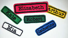 Embroidered Personalised Name Tag Patch LARGE iron on/sew on approx 10cm x 3cm