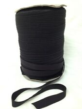 "Foldover Elastic 1/2"" or 5/8"" BLACK/WHITE 10 yards FOE Shiny Fold Over Trim"