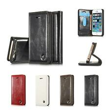 New Luxury Magnetic Leather Stand Flip Cover Case Wallet Case for iPhone 5 6S 7
