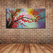 Large Wall Picture Landscape Cherry Blossom Oil Painting Canvas Art Home Decals
