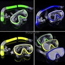 Swimming Pool Diving Equipment Anti Fog Goggles Scuba Mask Snorkel Glasses OO
