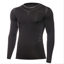 Mens Compression Fitness Shirt Tops Base Layer Under Skin Tight Training T-Shirt
