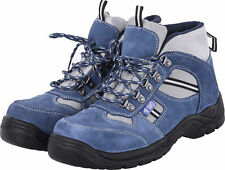 BNIB TRENDY BLUE STEEL TOE CAPPED TRAINER WORK BOOTS SAFETY SHOE SIZES UK 3-13
