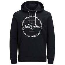 Jack and Jones Jorraffa Hooded Sweat in Black