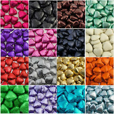 QUALITY, FOIL WRAPPED,DELICIOUS BELGIAN MILK CHOCOLATE  HEARTS  +20 COLOURS!