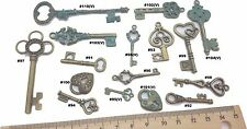 Keys lock Antique Bronze Verdigris Patina Alloy Charms Vintage Mixed Media