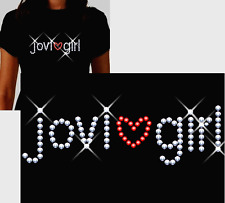 jovi girl Rhinestone T Shirt or Tank Top ~ 4 Styles ~ S M L XL 2XL