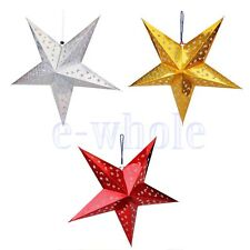 Hot Sale Pentagram Lampshade Star Paper Lantern Hanging Wedding Xmas Decor WT