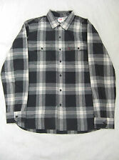 NEW LEVIS MENS LONG SLEEVED BLACK CREAM RED CHECK COTTON SHIRT SIZE XL