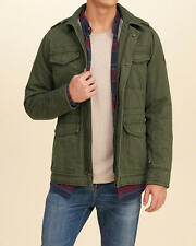 Abercrombie & Fitch Hollister Jacket Mens Military Winter Jacket L XL Olive NWT