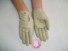 WOMENS  OFF WHITHE  LEATHER  DRIVING  GLOVES  SIZE 7, 7.5, 8,8.5