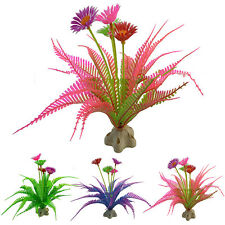 Fish Tank Plastic Plant Ornament Aquarium Decoration Water Grass Aquatic Flower