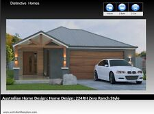 4 Bedroom Narrow Lot   House Plans   Floor plans    Home Plans    Ranch Style