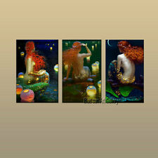 Art Wall decor fantasy Vintage Mermaid Oil painting Picture Printed on canvas 27