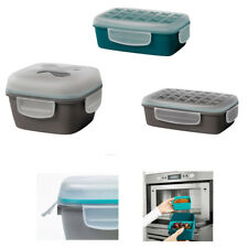 IKEA Lunch Box Green with Snap & Lock Lid with 2 or 3 Compartments, or Salad Box