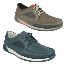 ORMAND SAIL MENS CLARKS LACE UP LEATHER CASUAL SPORTS MOCCASIN BOAT STYLE SHOES