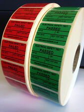 Personalised  Free,PAT Testing Stickers,  Electrical Labels, Pass or Fail