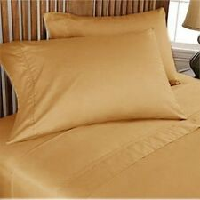 Hotel Quality Extra Deep Pocket 4 pc Sheet Set Gold Solid 1000 Thread Count