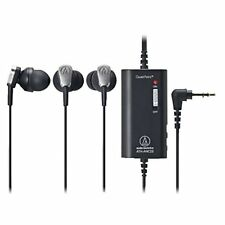audio technica ATH-ANC23 Black White Active Noise-Cancelling In-Ear Headphones