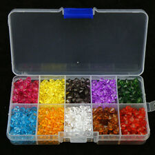 6mm Acrylic Plastic Bicone Faceted Spacer Beads  & Box DIY Jewelry Making W112