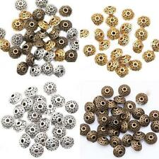 100Pcs Rondelle Metal Alloy Bicone Spacer Beads 6mm for Jewelry Making Virtuous