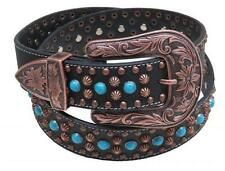 Showman Couture Western Style Bling Belt W/ TURQUOISE Stones & Copper Buckle!